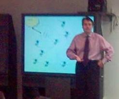 Michail Bletsas during the talk