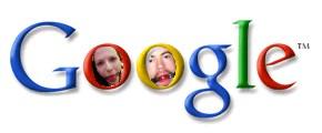 A parody of Google's logo