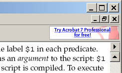 Adobe Reader add button
