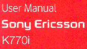 User Manual - Sony Ericsson K770i