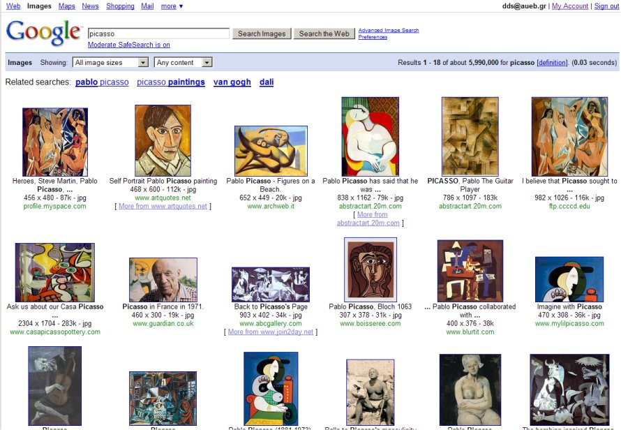 Google's Picasso collection