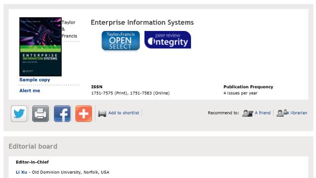institutions of EIS citations