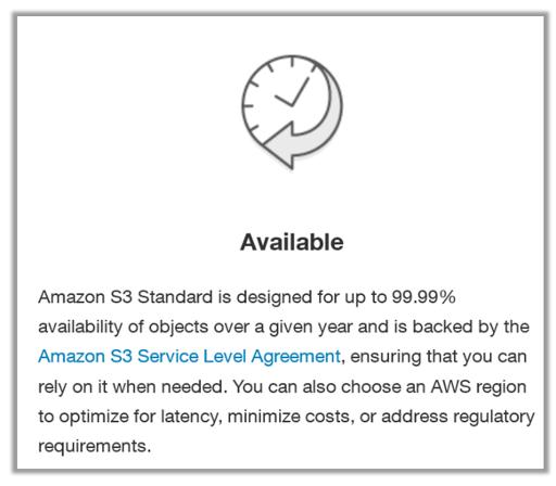 AWS S3 availability