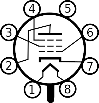 Octal base vacuum tube numbering (7AK7)