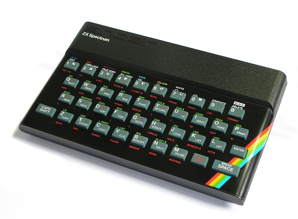 The 1982 ZX Spectrum home computer